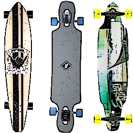 Mini Longboards bei amazon.de